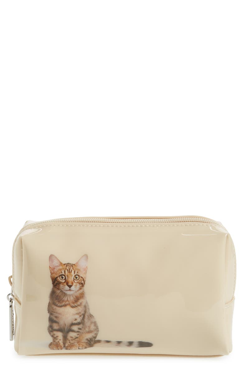 CATSEYE LONDON Tabby Cat Cosmetics Case, Main, color, 270