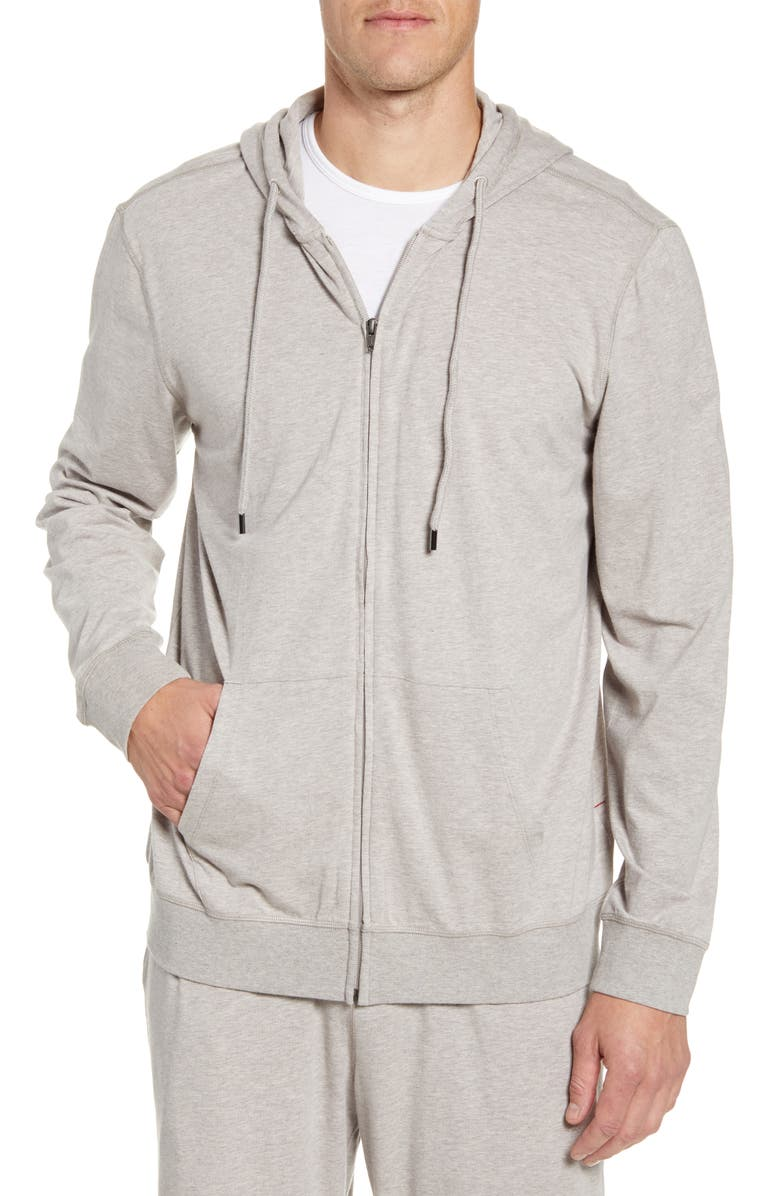 DANIEL BUCHLER Cotton Blend Zip Hoodie, Main, color, 060