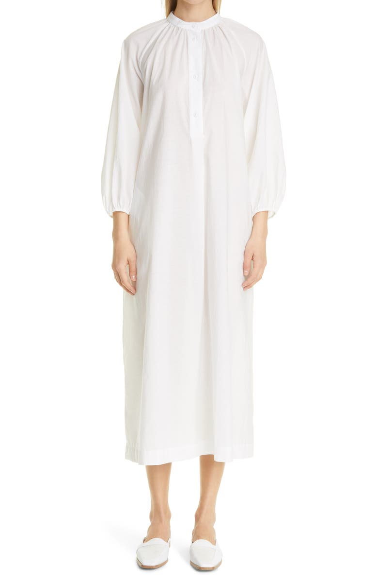 MAX MARA Ebridi Cotton Blend Cover-Up Dress, Main, color, OPTICAL WHITE