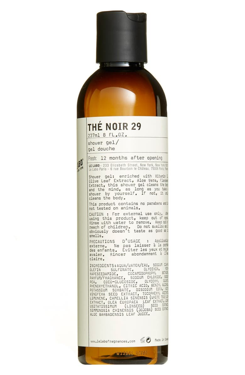 LE LABO Thé Noir 29 Shower Gel, Main, color, No Color