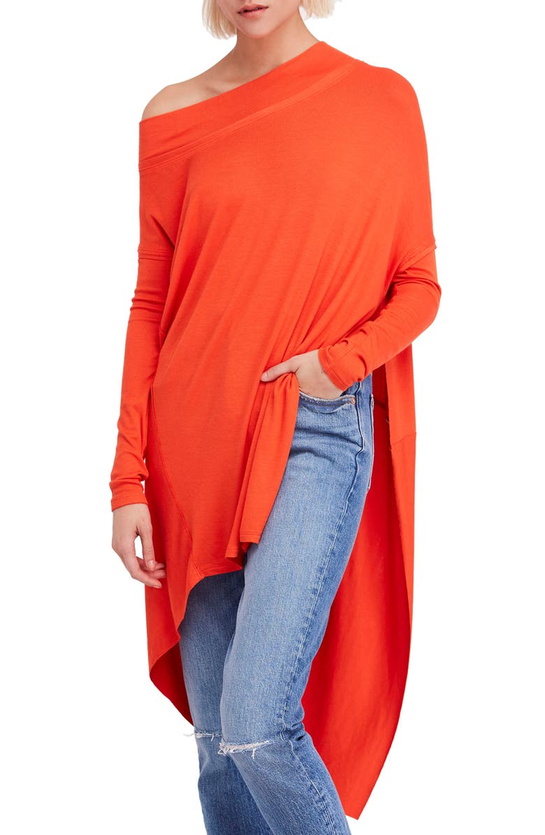 FREE PEOPLE Grapevine Tunic, Main, color, FIRE