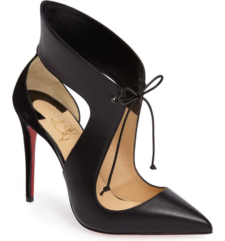 CHRISTIAN LOUBOUTIN Ferme Rouge Pointy Toe Pump, Main, color, 002
