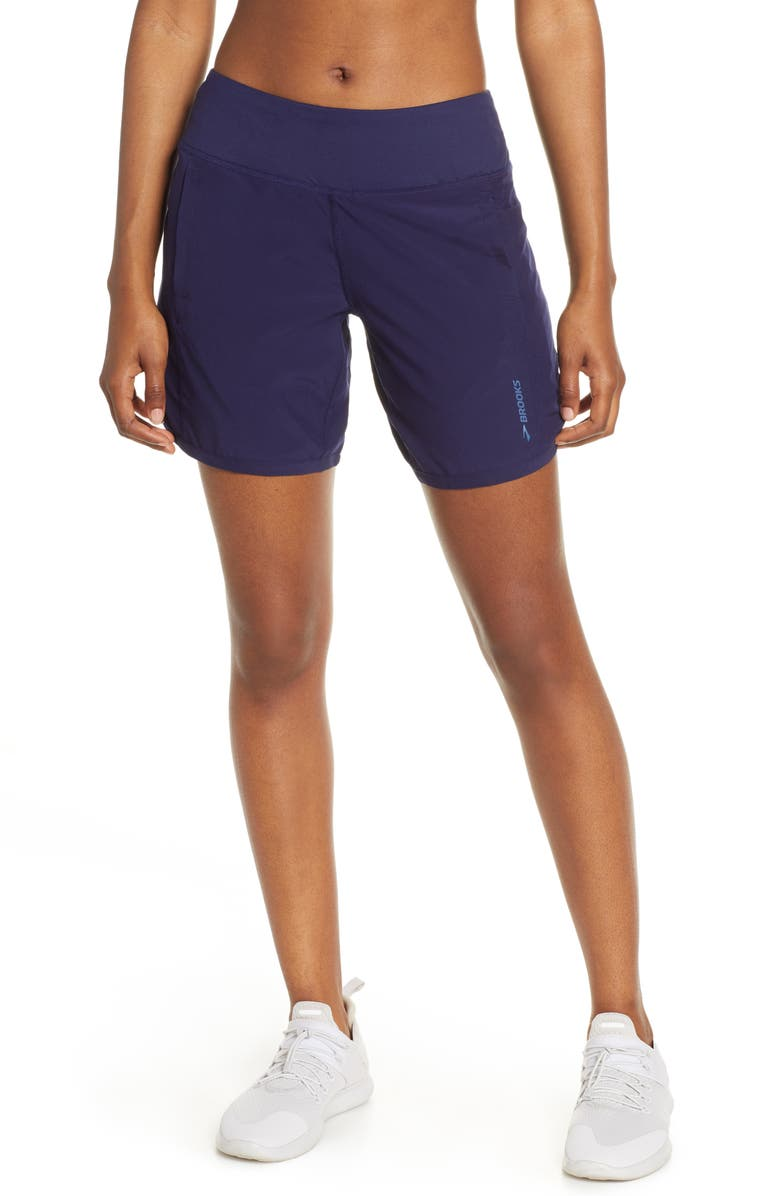 BROOKS Chaser 7 Shorts, Main, color, NAVY