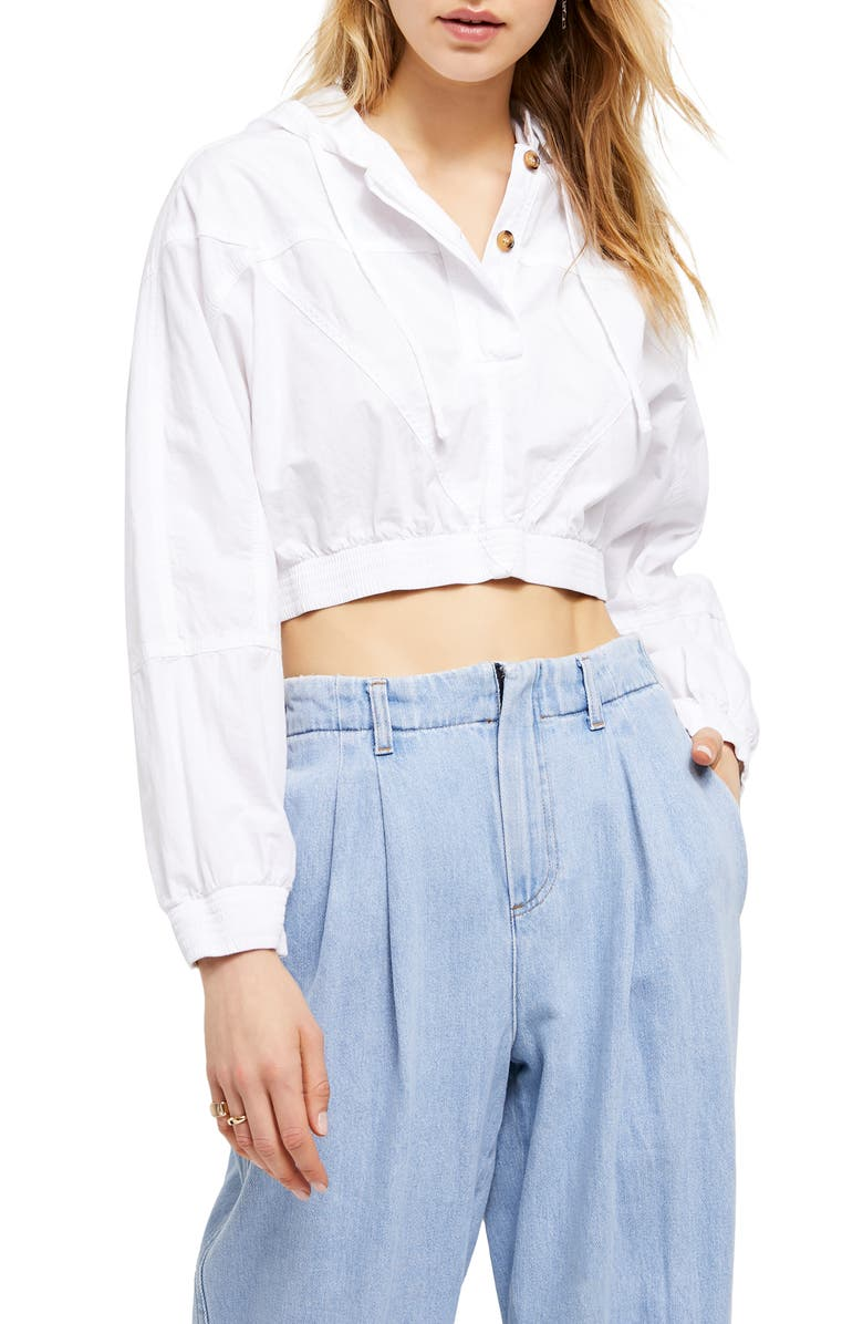 BDG URBAN OUTFITTERS Crop Poplin Jacket, Main, color, WHITE