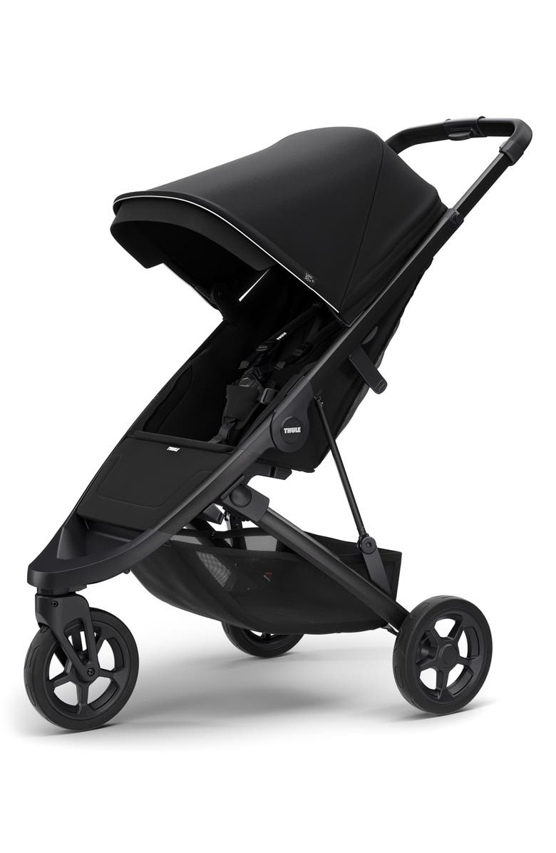 THULE Spring 2020 Single Stroller, Main, color, BLACK/ BLACK