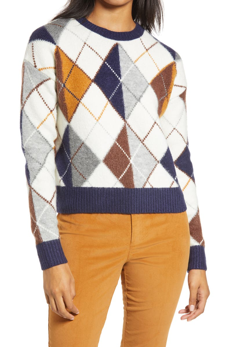 HALOGEN<SUP>®</SUP> x Atlantic-Pacific Argyle Sweater, Main, color, 900