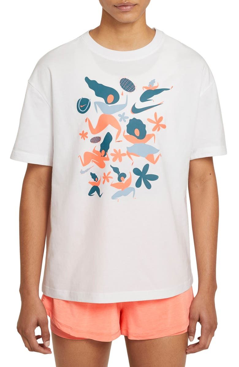 NIKE Court x International Women's Day Graphic Tee, Main, color, WHITE