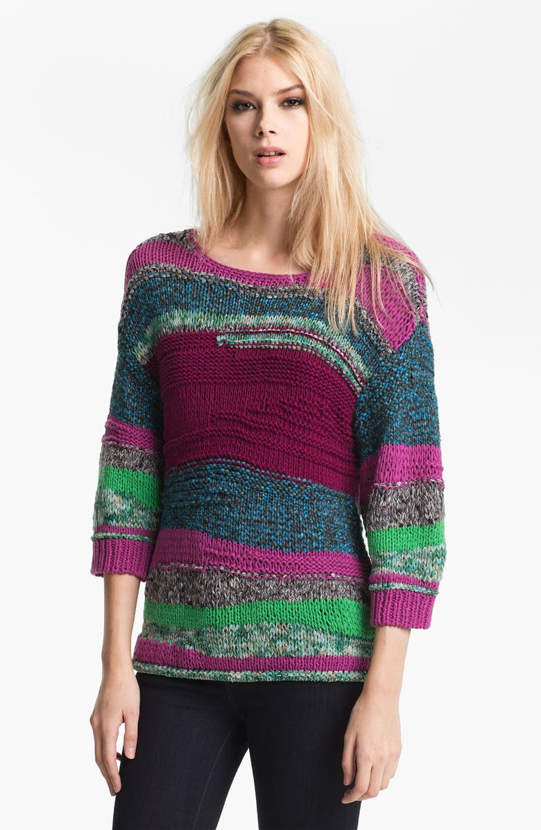 MARC BY MARC JACOBS 'Anarchy' Sweater, Main, color, PLUM MULTI