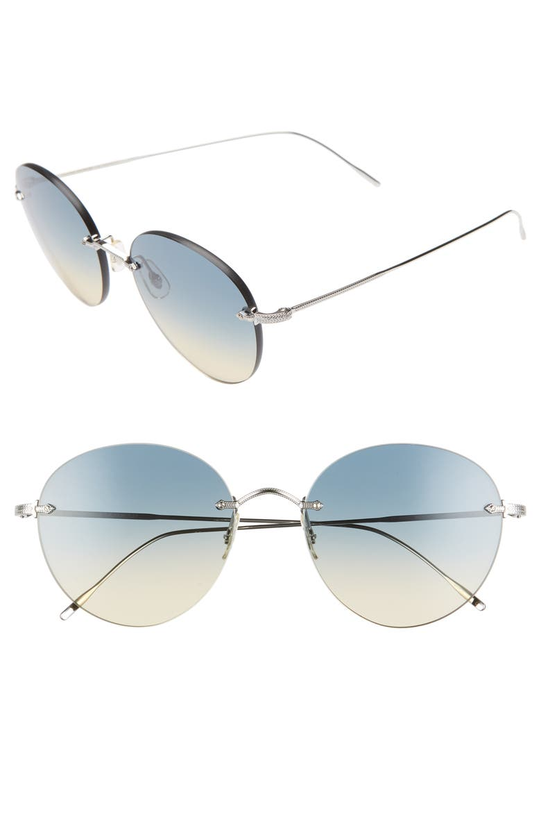 OLIVER PEOPLES Coliena 57mm Round Sunglasses, Main, color, 040