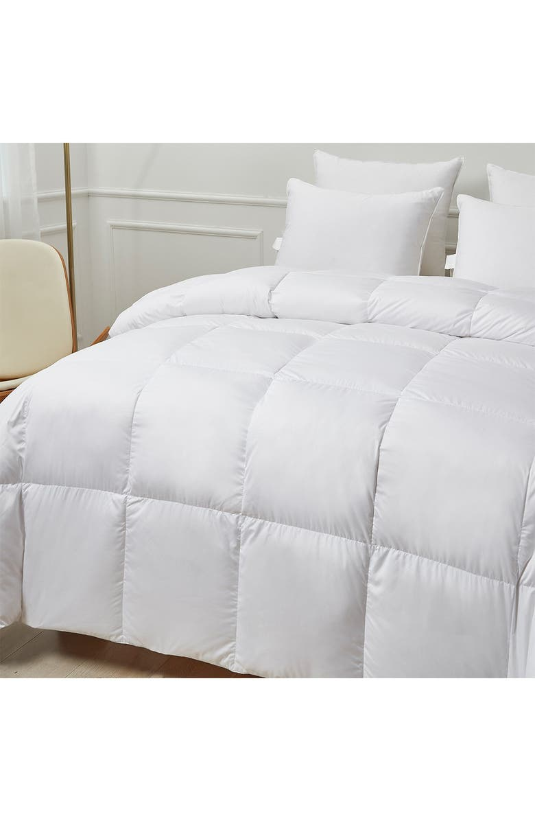 BLUE RIDGE HOME FASHIONS Kathy Ireland Ultra-Soft Nano-Touch Extra Warmth White Down Fiber Comforter - Full/Queen, Main, color, WHITE