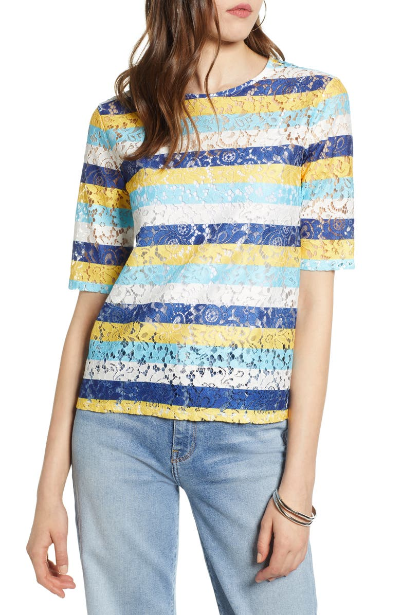 HALOGEN<SUP>®</SUP> Easy Lace Top, Main, color, 420