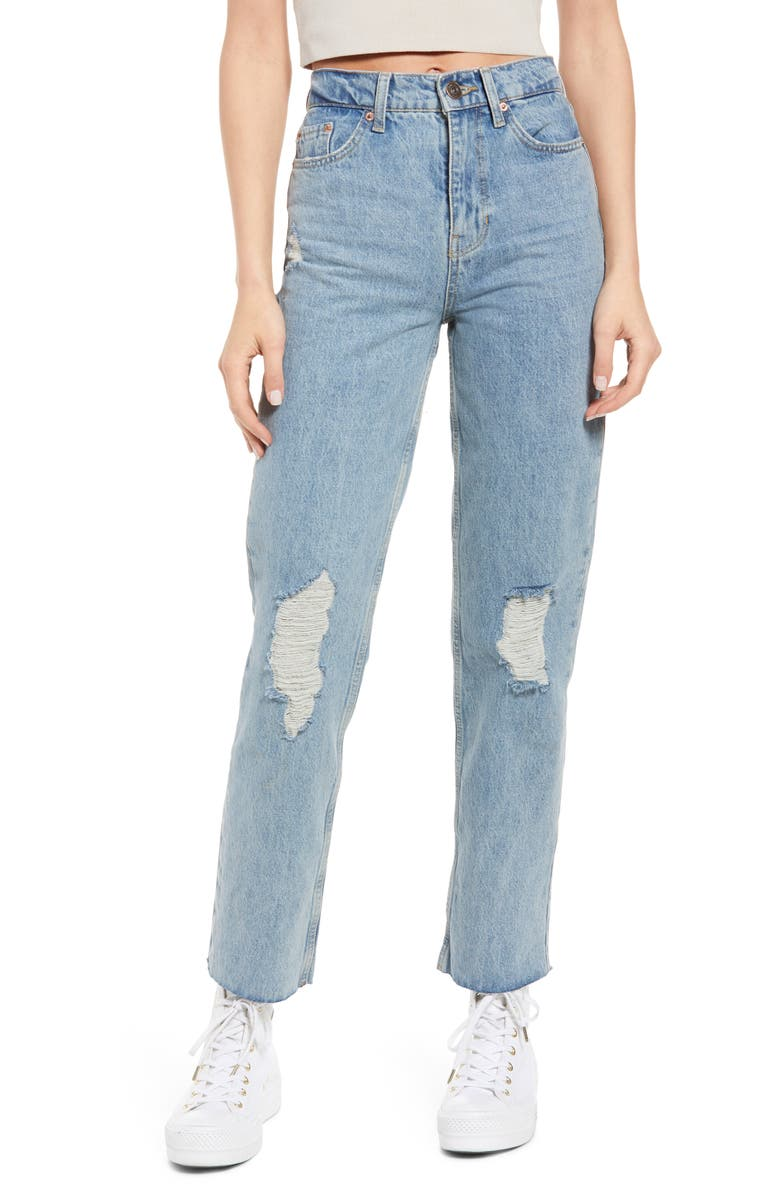 BDG URBAN OUTFITTERS Pax Ripped High Waist Jeans, Main, color, SUMMER VINTAGE