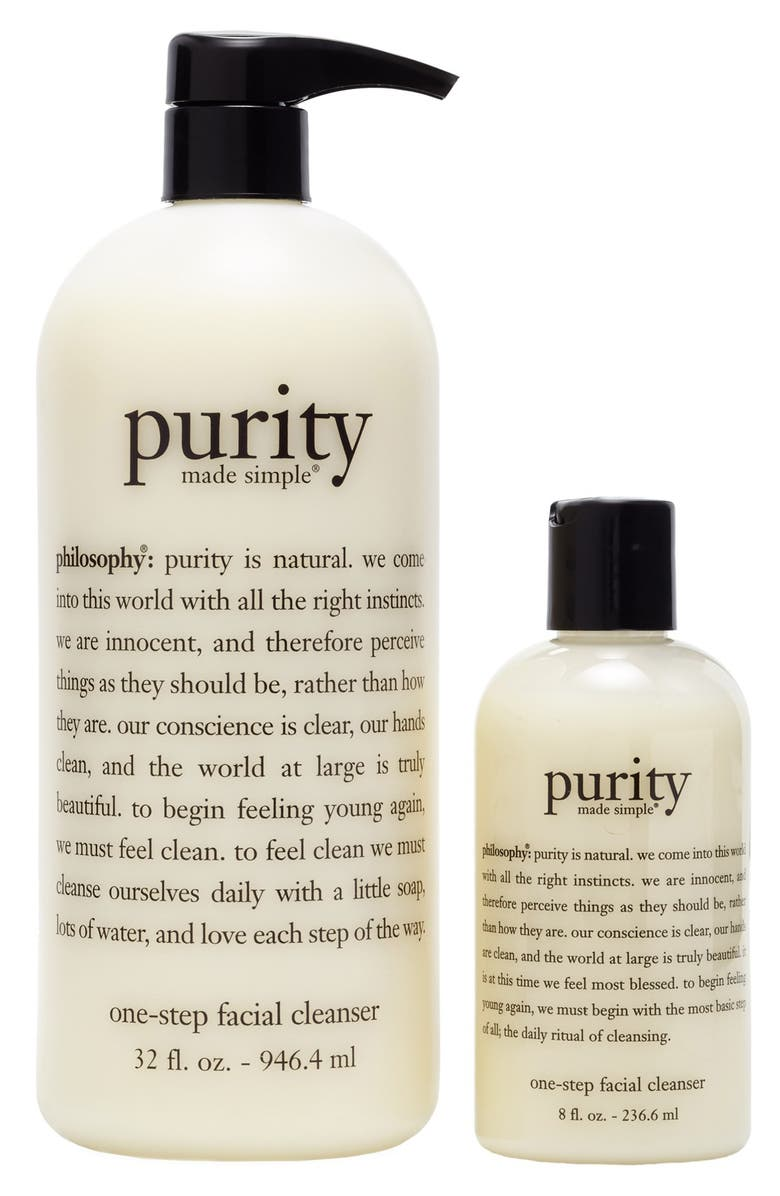 PHILOSOPHY 'purity made simple' one-step facial cleanser duo, Main, color, No Color