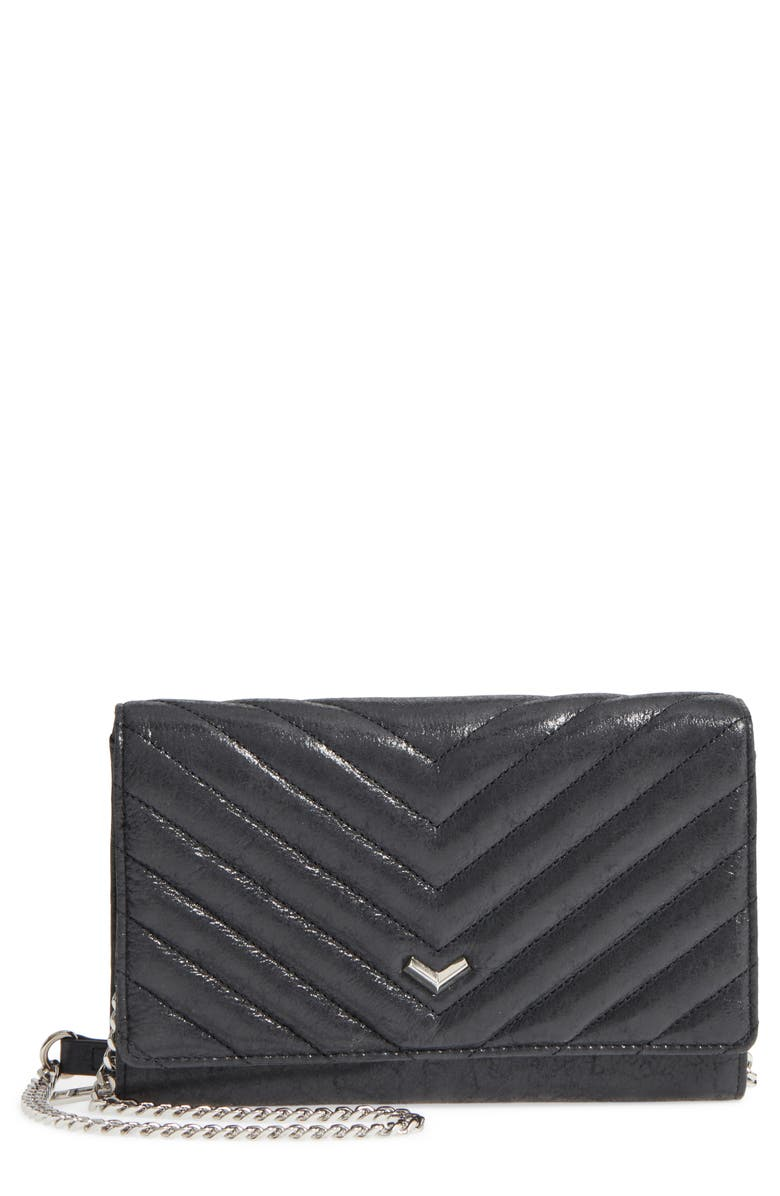 BOTKIER Soho Calfskin Leather Wallet on a Chain, Main, color, 001