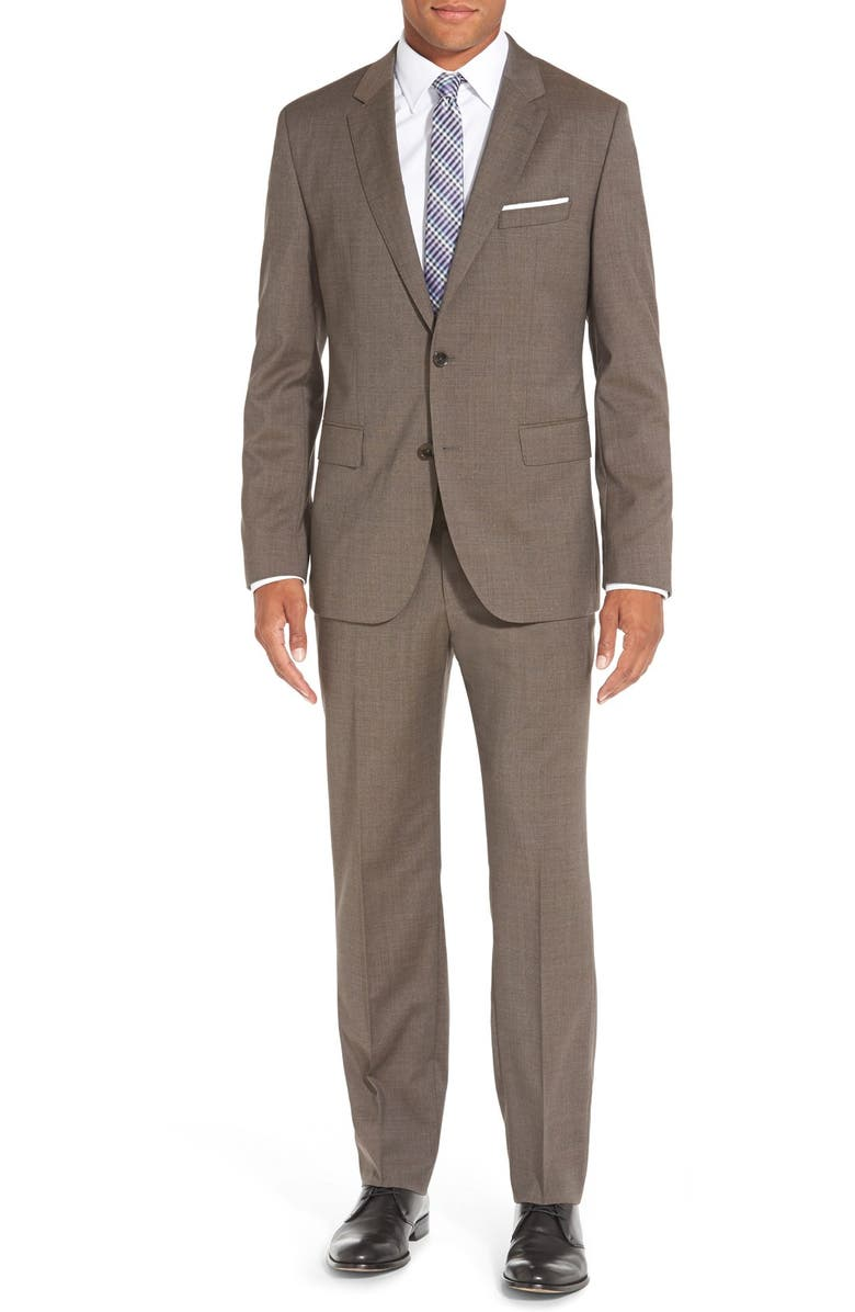 ZZDNUHUGO BOSS BOSS 'Johnstons/Lenon' Trim Fit Solid Wool Suit, Main, color, 240