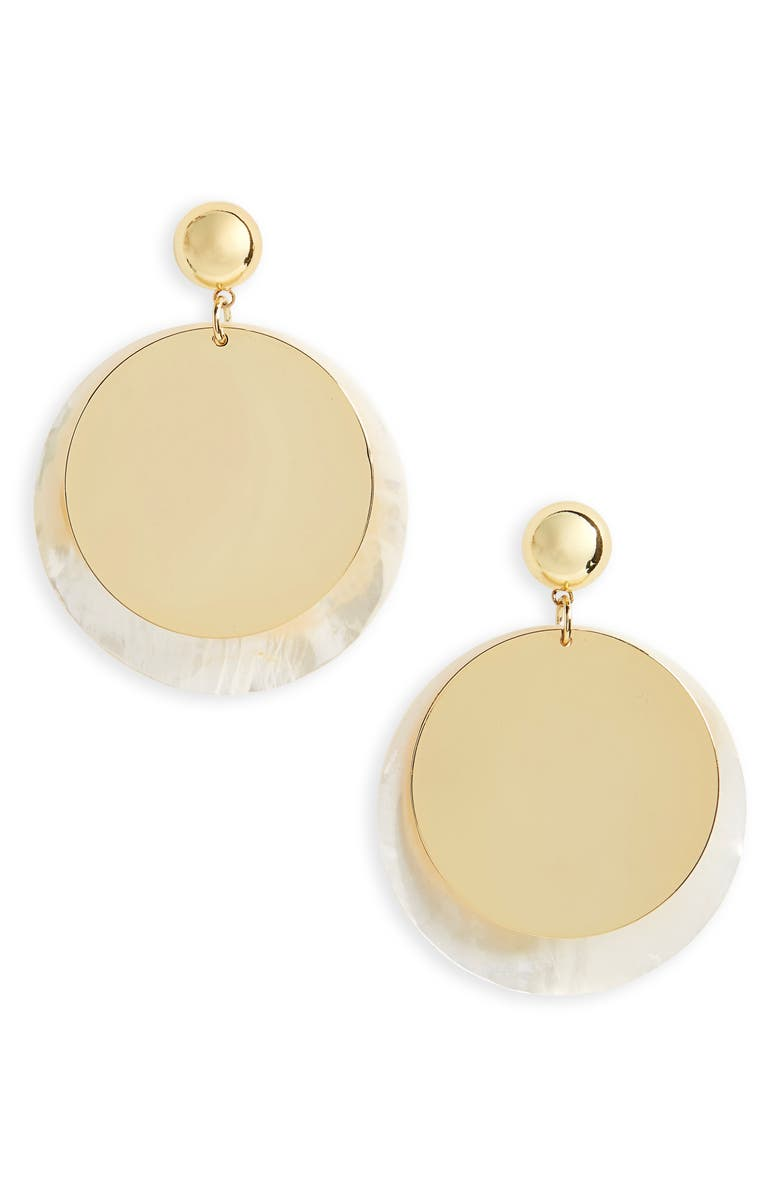 ELIZABETH AND JAMES Rosa Goldie Drop Earrings, Main, color, YELLOW GOLD