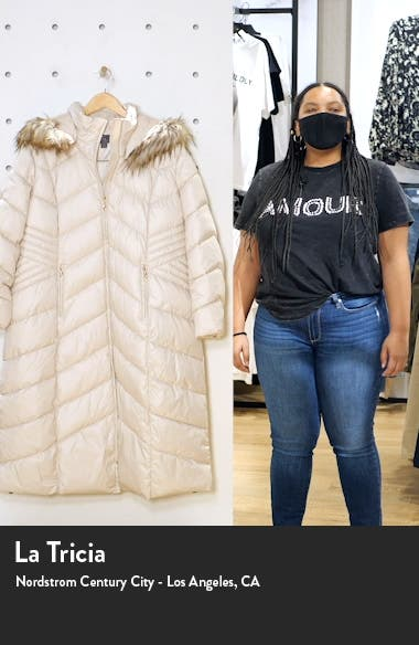 Long Quilted Parka with Faux Fur Trim, sales video thumbnail