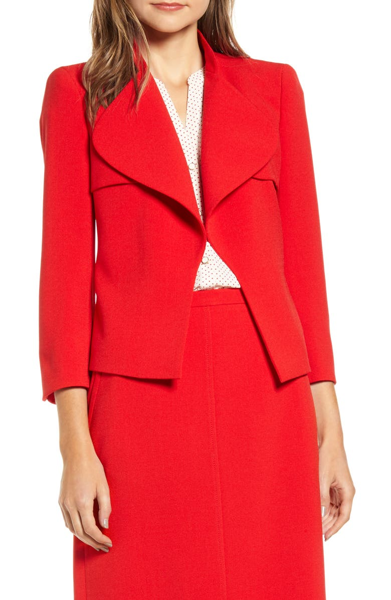 ANNE KLEIN Trench Suit Jacket, Main, color, PINOT