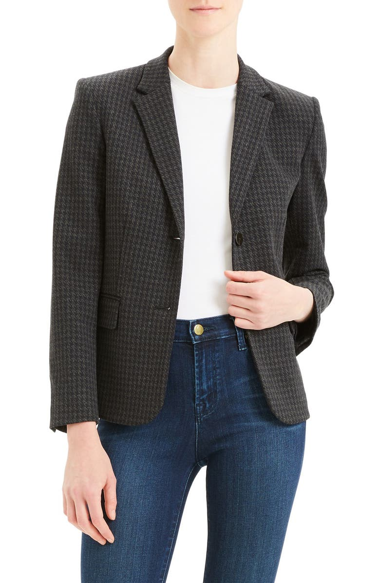 THEORY Shrunken Houndstooth Jacket, Main, color, 400