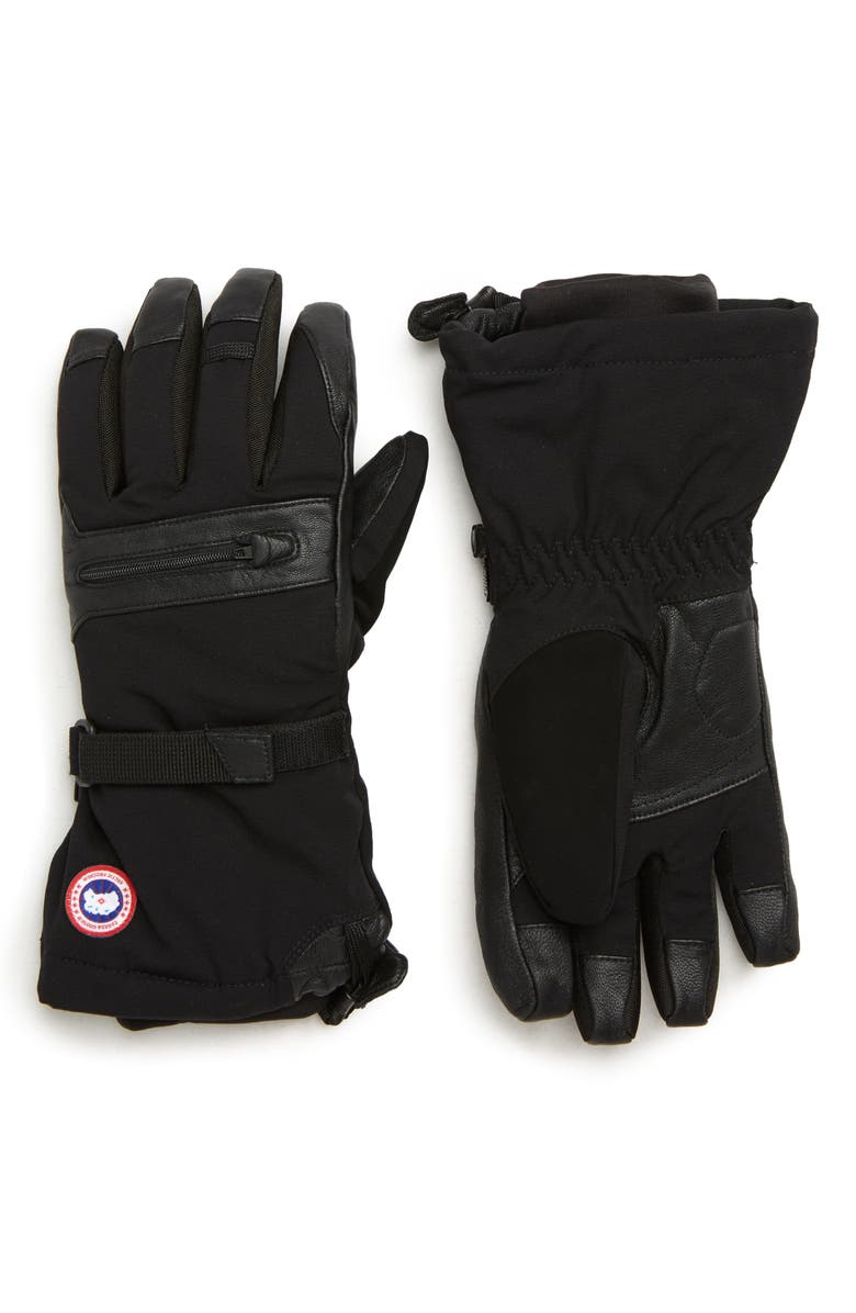 CANADA GOOSE Northern Utility Gloves, Main, color, BLACK