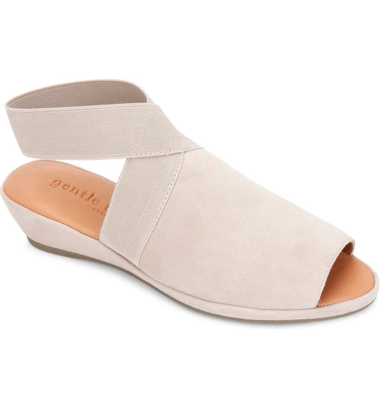 GENTLE SOULS BY KENNETH COLE Lily Wedge Sandal, Main, color, MUSHROOM SUEDE