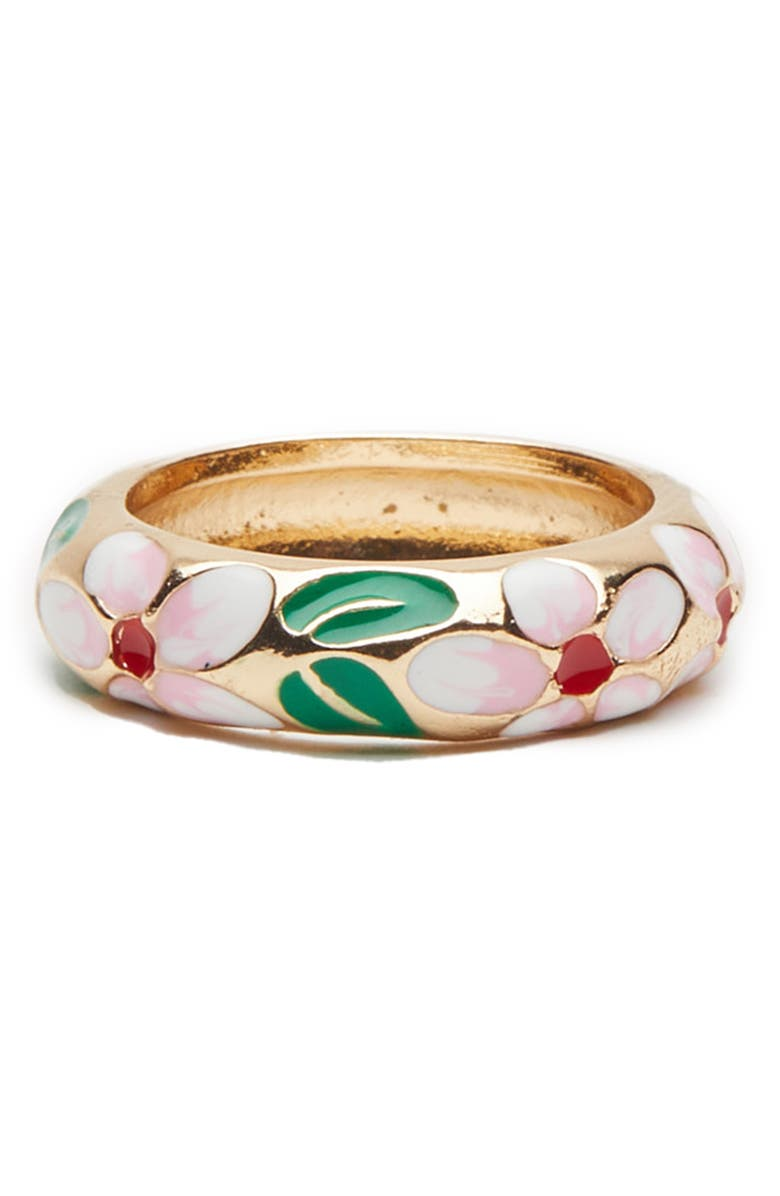 PETIT MOMENTS Baroque Floral Ring, Main, color, PINK
