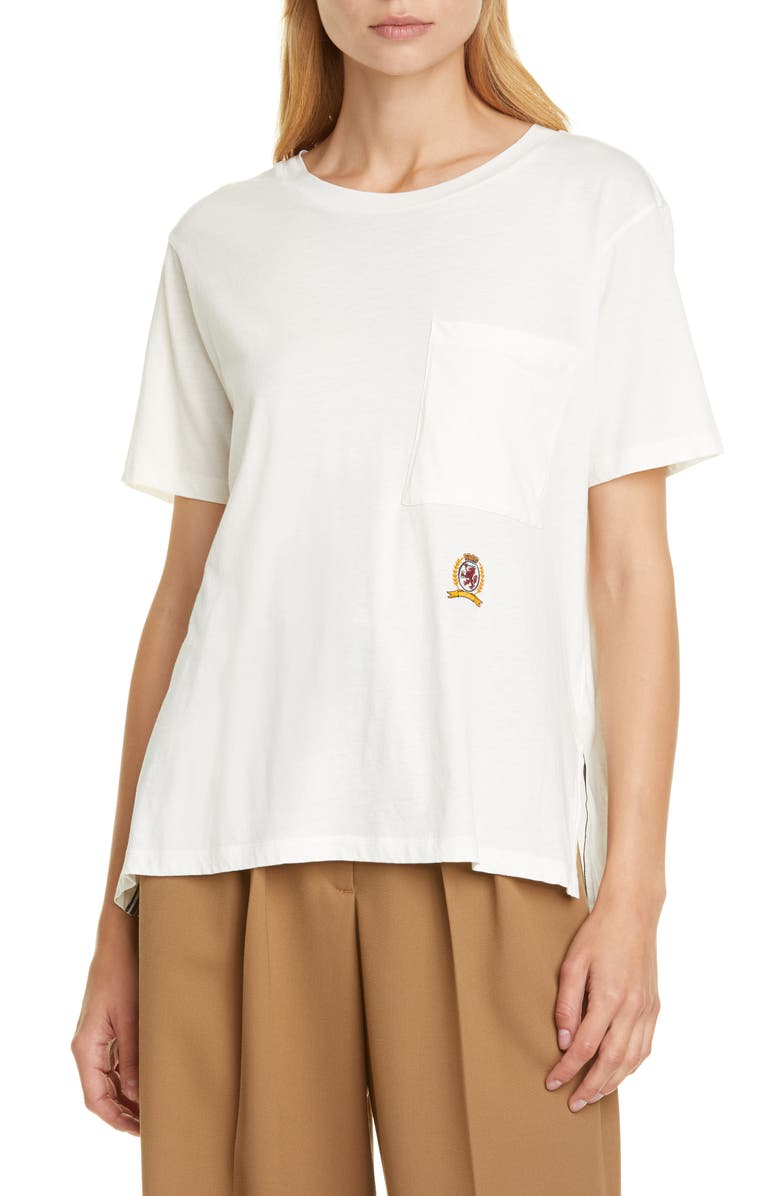 HILFIGER COLLECTION Crest Embroidered Pocket Tee, Main, color, 900