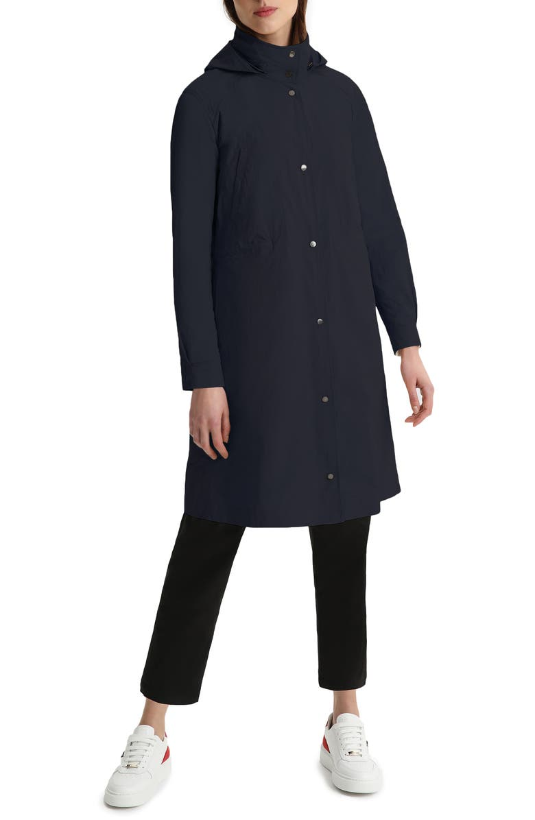 WOOLRICH Tickseed Water Repellent Coat, Main, color, MELTON BLUE