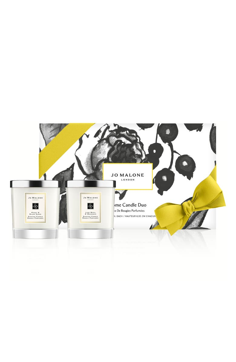 JO MALONE LONDON<SUP>™</SUP> Peony & Blush Suede and Lime Basil & Mandarin Candle Set-$140 Value, Main, color, NO COLOR