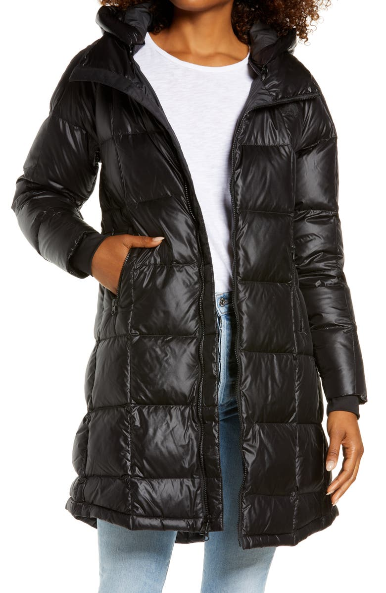 THE NORTH FACE Acropolis Water Repellent 550 Fill Power Down Parka, Main, color, TNF BLACK