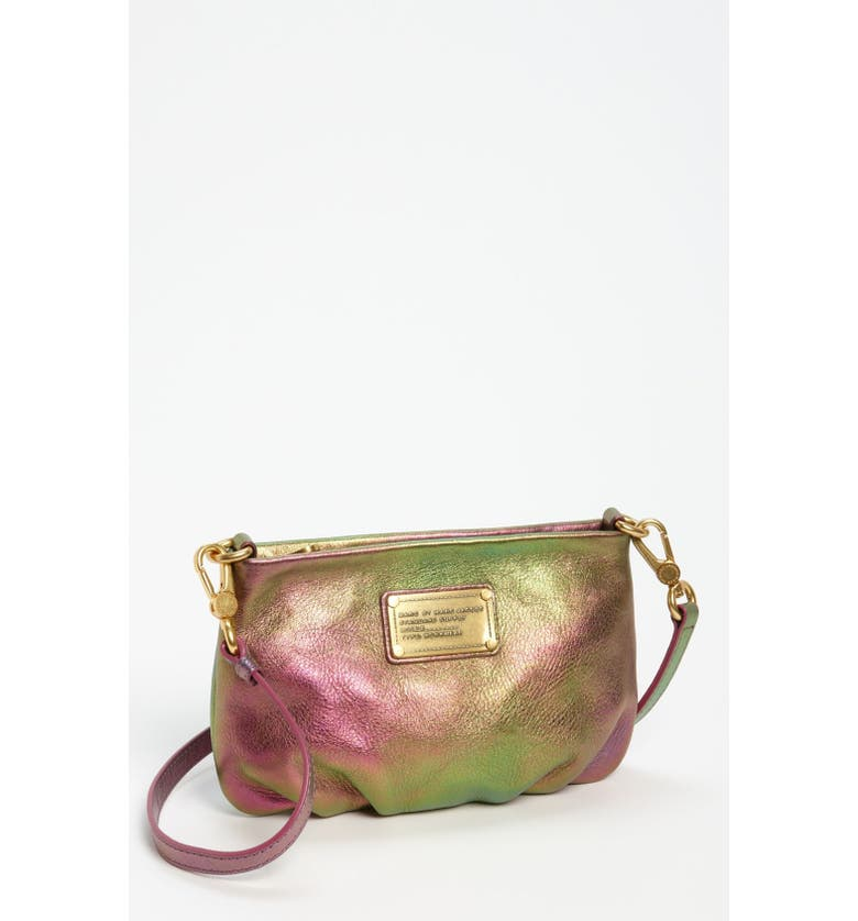 MARC JACOBS MARC BY MARC JACOBS 'Classic Q - Percy' Crossbody Bag, Main, color, NAPPA IRIDESCENT