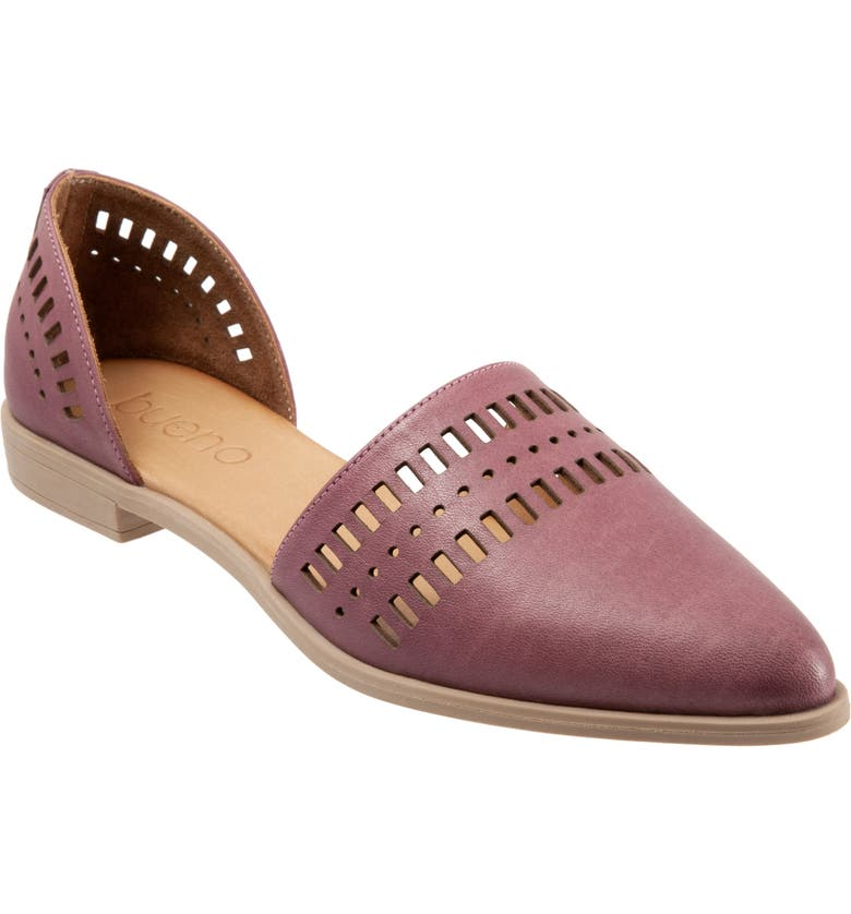 BUENO Beth d'Orsay Flat, Main, color, MAUVE LEATHER
