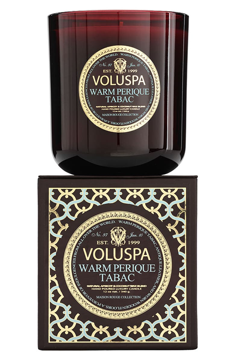 VOLUSPA 'Maison Rouge - Warm Perique Tabac' Scented Candle, Main, color, 000