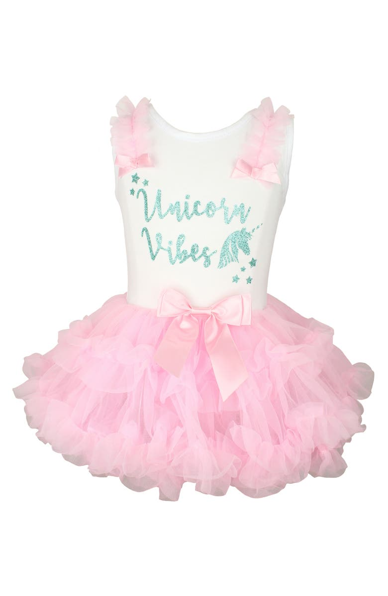 POPATU Unicorn Vibes Tutu Dress, Main, color, PINK
