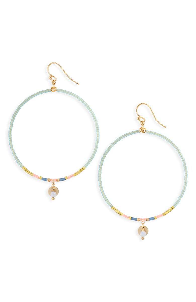 CHAN LUU Beaded Hoop Earrings, Main, color, 300