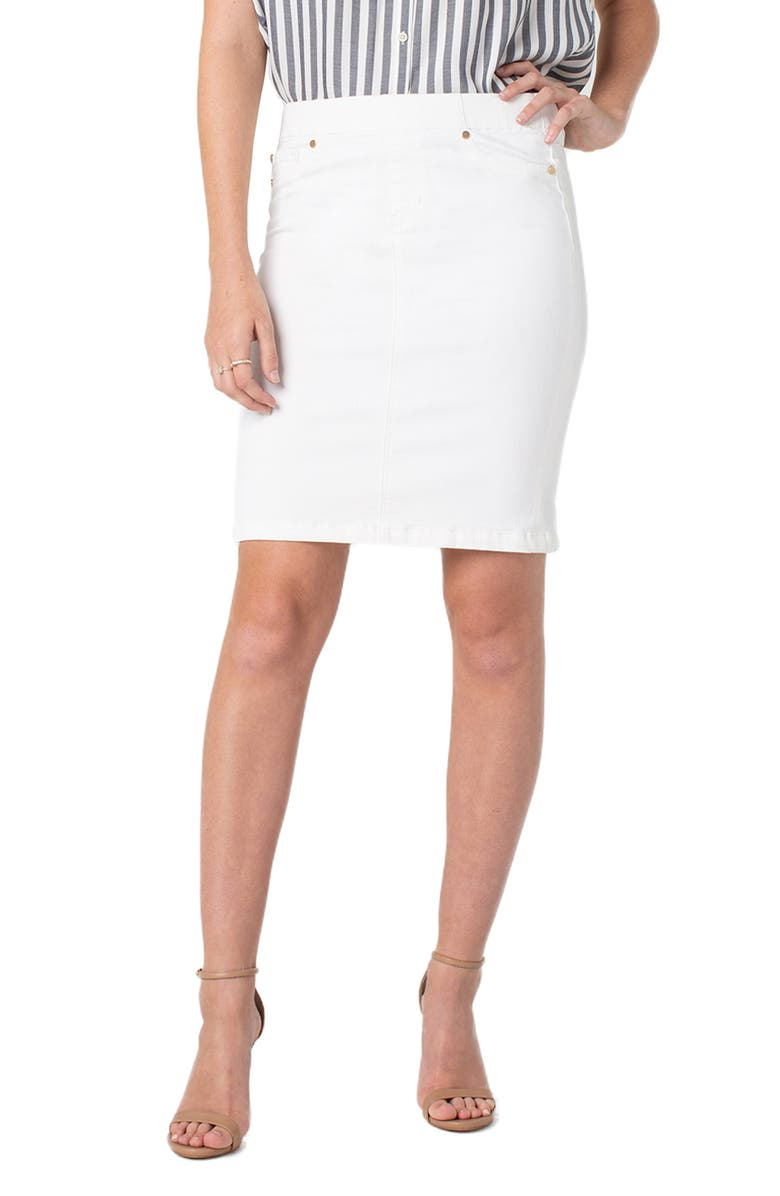 LIVERPOOL Pull-On Pencil Skirt, Main, color, 105