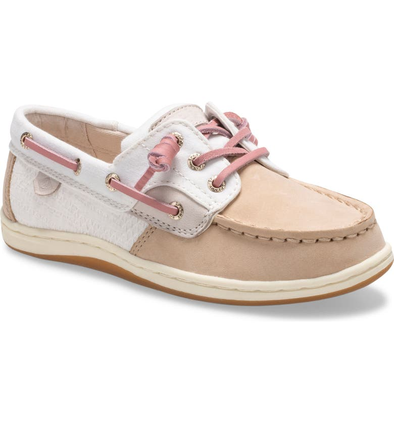 SPERRY Kids 'Songfish' Boat Shoe, Main, color, CHAMPAGNE