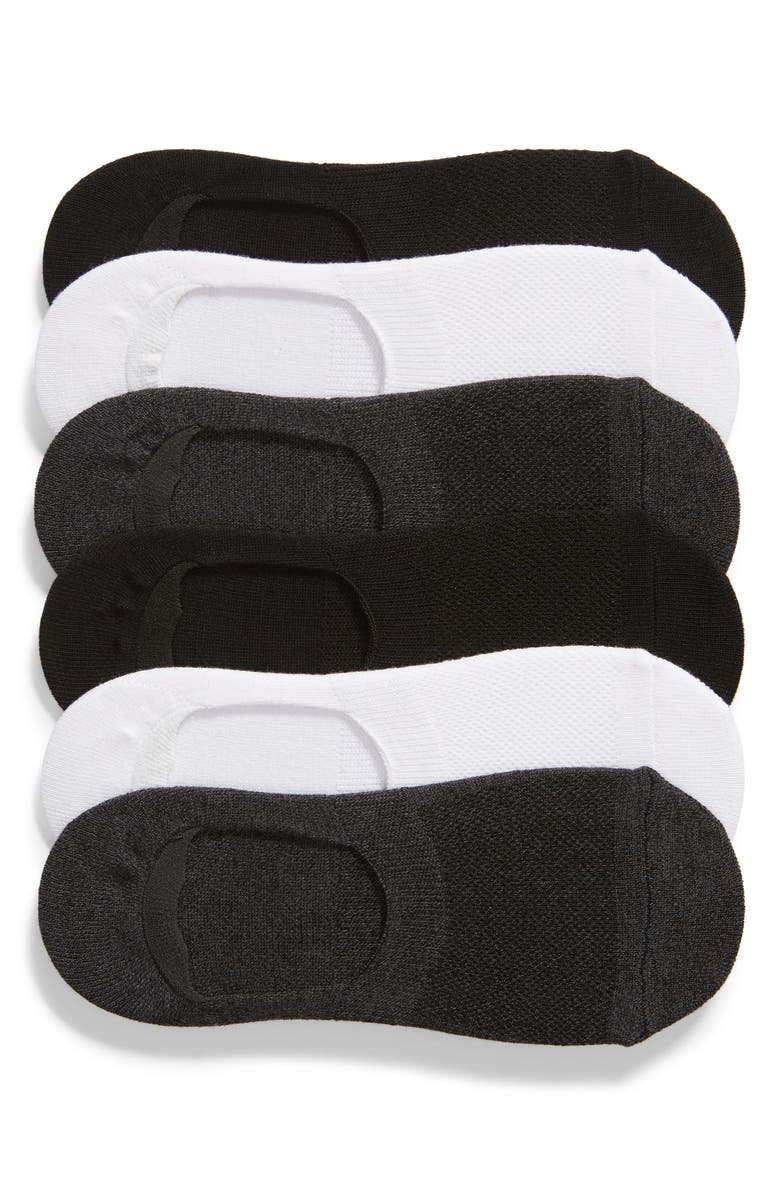 NORDSTROM 6-Pack No-Show Liner Socks, Main, color, 021