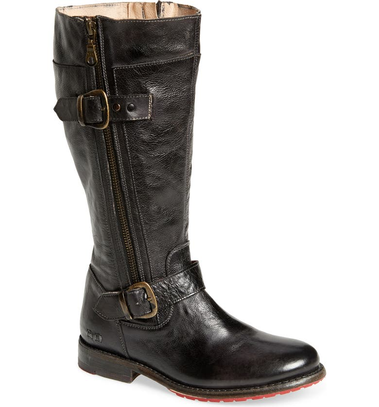BED STU Gogo Boot, Main, color, BLACK RUSTIC LEATHER