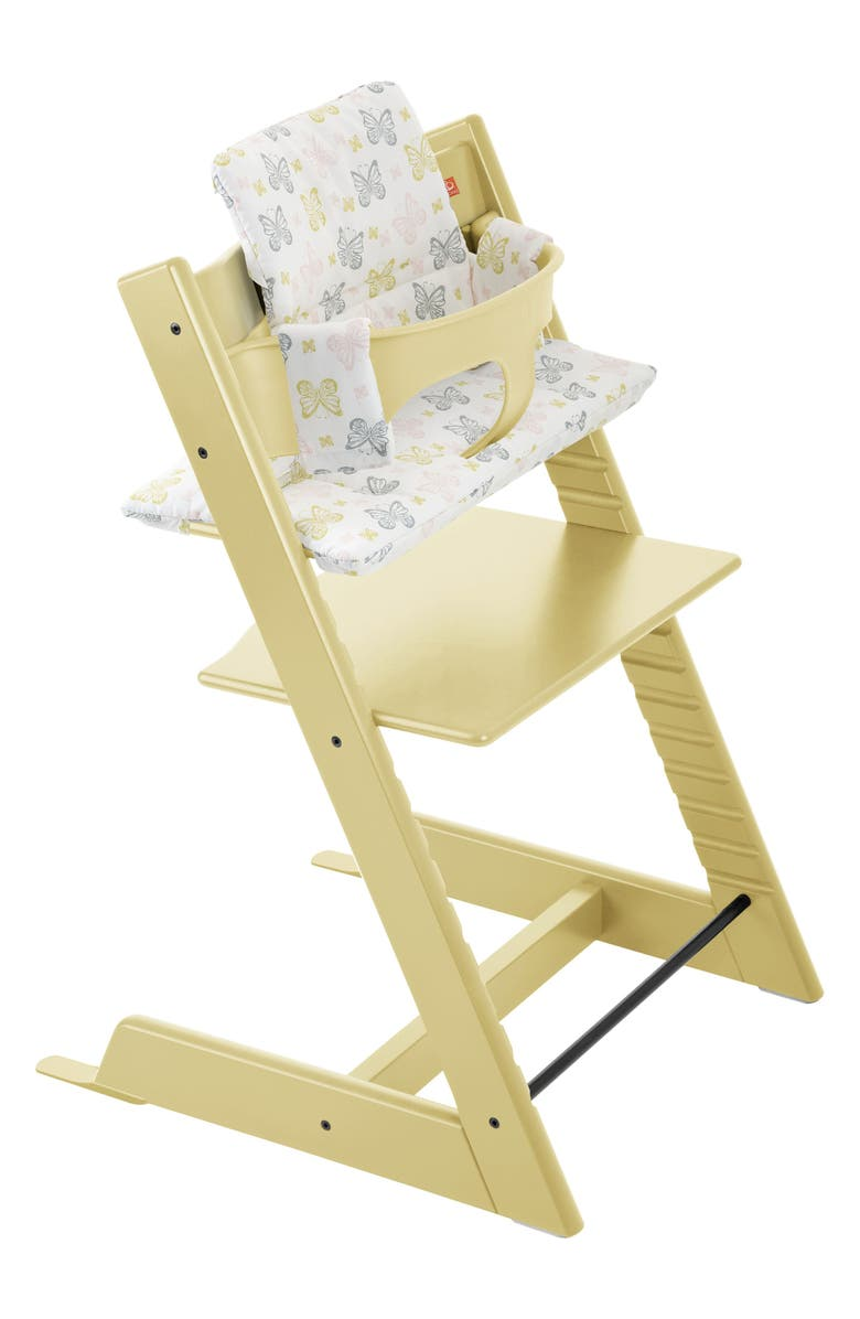 STOKKE Tripp Trapp<sup>®</sup> Chair, Baby Set, Cushion & Tray Set, Main, color, WHEAT YELLOW