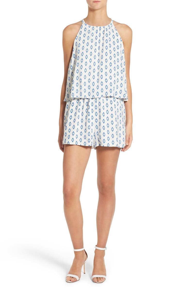 CUPCAKES AND CASHMERE 'Davidson' Romper, Main, color, 403