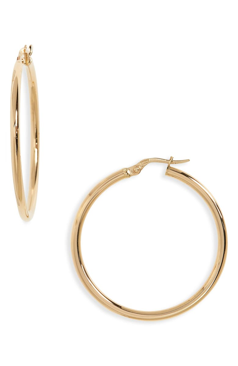 ROBERTO COIN 35mm Gold Hoop Earrings, Main, color, yellow gold