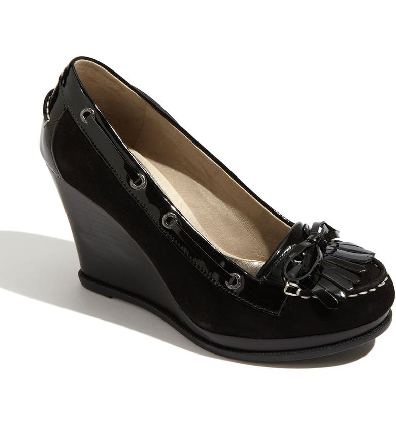 SPERRY Top-Sider<sup>®</sup> 'Fairwind' Wedge Loafer, Main, color, 001