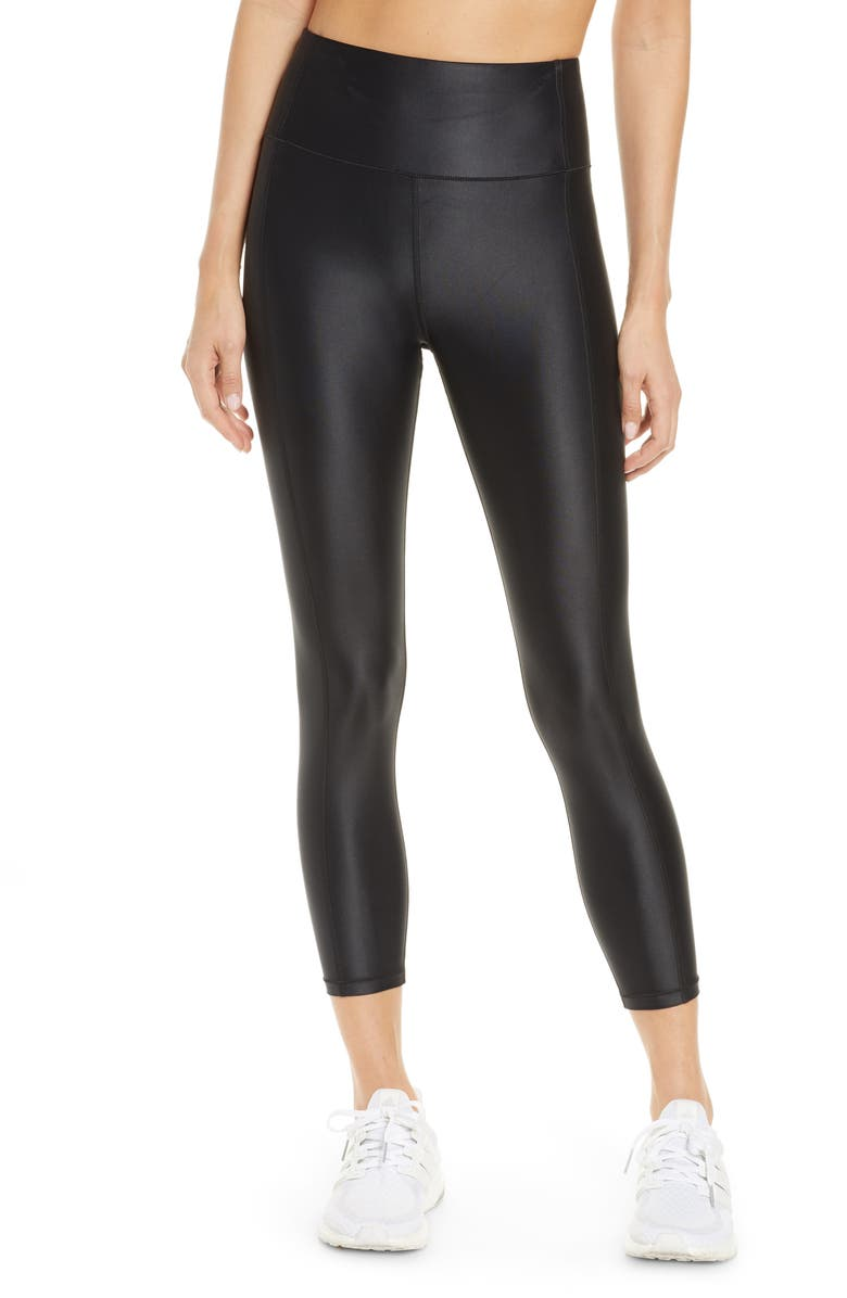 SWEATY BETTY High Shine High Waist 7/8 Leggings, Main, color, BLACK