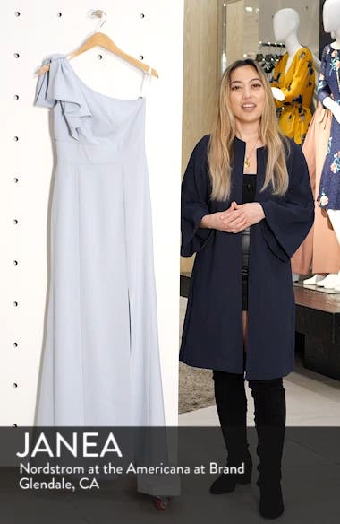 Bow One-Shoulder Trumpet Gown, sales video thumbnail