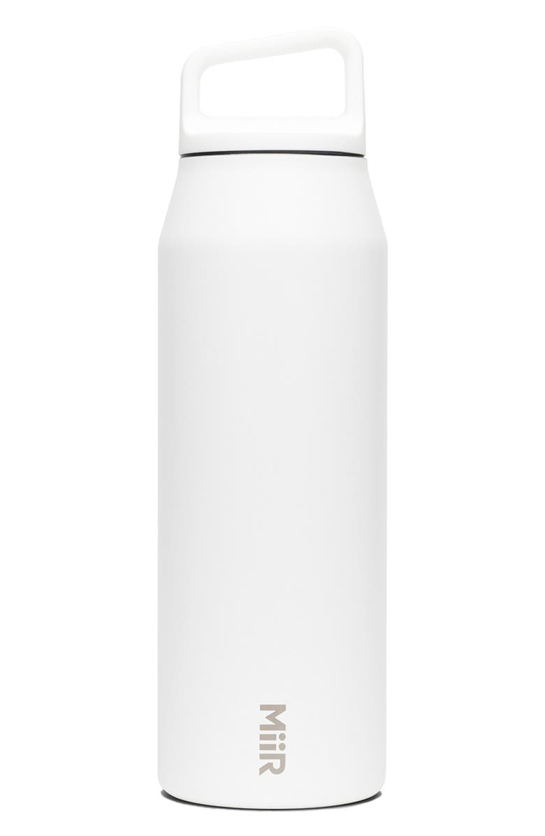 MIIR 32-Ounce Wide Mouth Stainless Steel Insulated Water Bottle, Main, color, WHITE