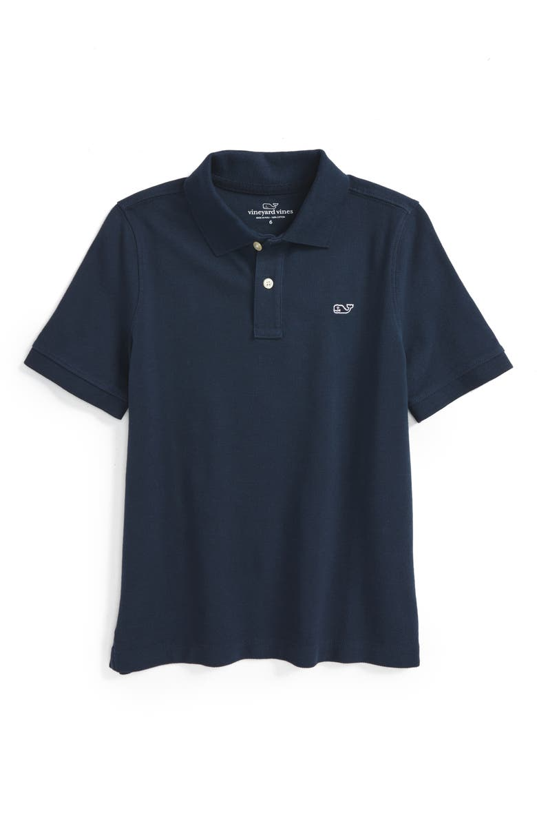 VINEYARD VINES Piqué Cotton Polo, Main, color, VINEYARD N