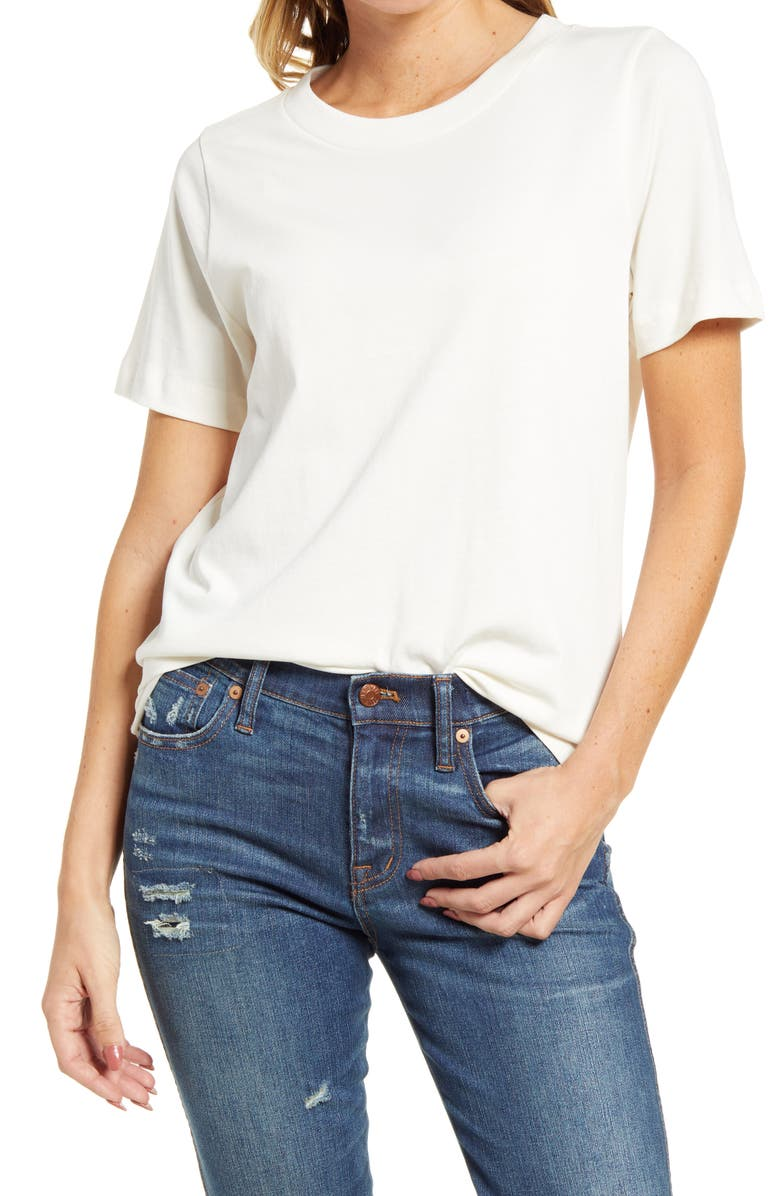 MADEWELL Women's Supima<sup>®</sup> Cotton Essential Tee, Main, color, LIGHTHOUSE