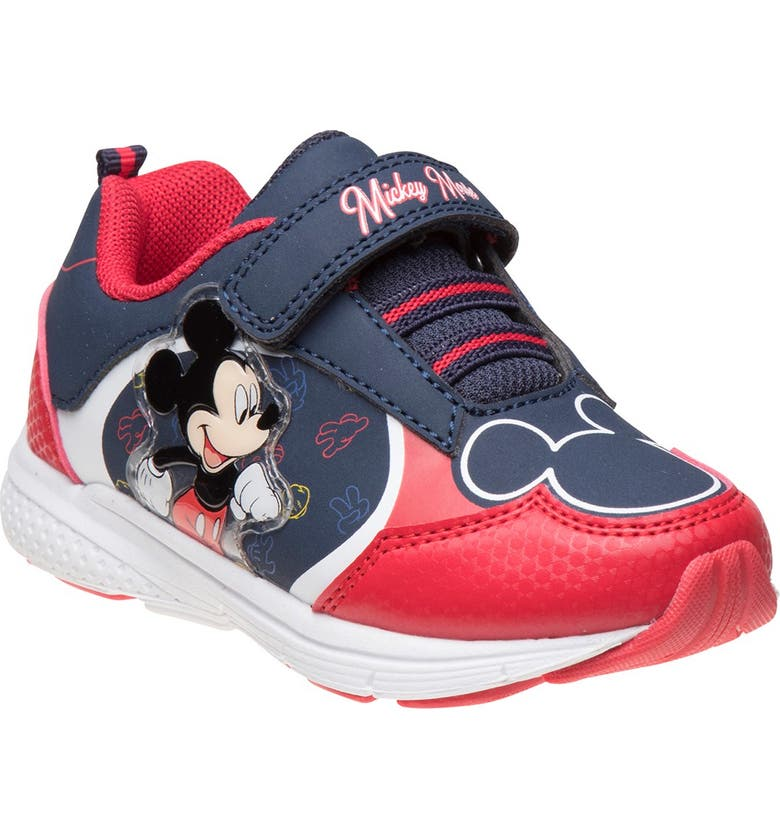 JOSMO Disney Mickey Mouse Sneaker, Main, color, NAVY/RED