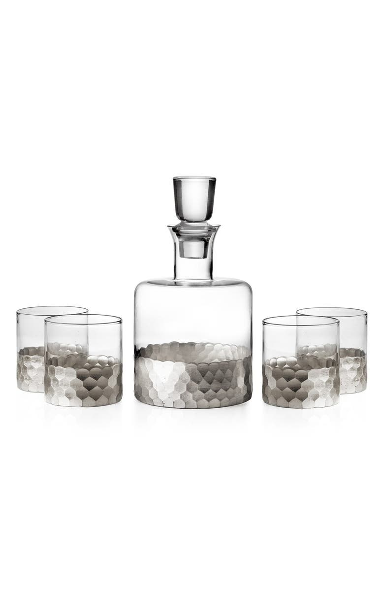 AMERICAN ATELIER 'Daphne' Decanter & Whiskey Glasses, Main, color, SILVER